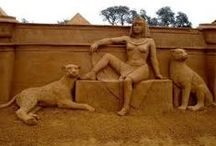 Art-Sand Sculptures / Sand scultures