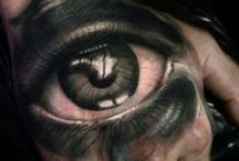 Eyes by Yomico Moreno / Eye tattoos by Last Rites Tattoo Theatre resident artist Yomico Moreno.  Originally from Venezuela, Yomico joined the Last Rites Team in 2015.