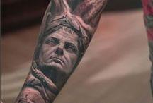 Greek & Roman tattoos by Darwin Enriquez