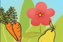 Frutas y vegetales | Fruits & Vegetables Preschool ideas / Craft projects and ideas for teaching about fruits and veggies.