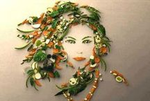 """Food Art / Everybody knows you're not supposed to play with your food but that doesn't stop artists from creating some rather extraordinary """"edible"""" art."""