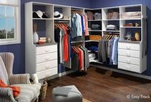 Closets / Whether you're designing a master closet or working with an area the size of a shoebox, we have just the thing. / by Easy Track
