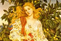 Pre-Raphaelite Beauty /  I love Pre-Raphaelite paintings. So easy to be inspired! The gorgeous cover of NAKED: A Novel of Lady Godiva (St Martin's Press) is in the Pre-Raphaelite style and the painters also inspired my fun Harlequin historical romance 'Enticing Benedict Cole'. Visit www.elizaredgold.com