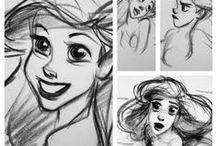 Líneas que inspiran / Dibujos, trazos, bosquejos de grandes de la animación, el arte y dibujo
