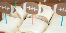 Football Food and Fun / Football Food | Appetizers | Games | Snacks | Super Bowl | Game Day | Recipes | Big Game | Party Ideas | Super Bowl Parties |