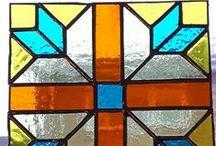 Stained Glass Geometrics & Quilt Blocks / Geometric & Quilt Block Stained Glass Items