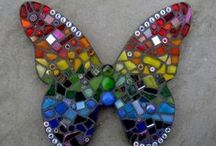 Mosaics / I've plenty of scrap stained glass so thought Mosaics would be a good use for it :-)