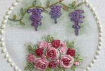 Silk Ribbon & Embroidery / Embroidery on bags, wall-hangings, pincushions, needle cases, cushions, children's projects, quilts, silk ribbon embroidery, stitching accessories, kitchen and table designs