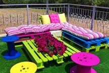 pallets / møbler og diverse laget av paller