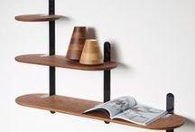 PER/USE Vertebrae / VERTEBRAE is a family of wall racks and shelving system designed by Frederik Delbart for PER/USE