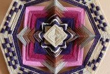 OJO DE DIOS / Mandalas de hilo y lana inspirados en técnica  huichol, originaria de México. Combinando colores y texturas, formando diseños circulares y simétricos. Una nota de color y belleza para los espacios. / by PANAMBÍ Mandalas de lana /Ojos de dios