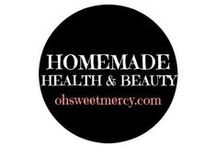 Homemade Health & Beauty / Why make your own health and beauty products? If you're concerned about chemicals and other unhealthy ingredients in those products, this is one way to control what goes in them. Find recipes and how to's here!