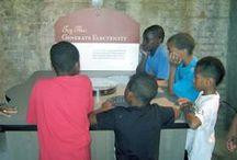 NDUTIME Youth & Family Services, Inc. (Emporia, Va.) / Five children (ages 5-9) from NDUTIME Youth & Family Services, Inc. (Emporia, Virginia) tour the Roanoke Canal Museum.