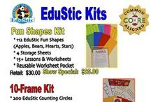 EduStic Flyers and Advertisements / Flyers and advertisements that highlight the awesome features of EduStic games and products.