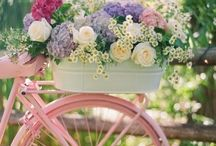 *A Stylish Bike Ride* / A dreamy ride in spring across the meadow with flowers in your hair...