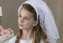 First Communion Headband Veils / First communion headband veils are comfortable and a great choice when wearing hair down