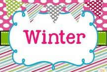 Winter Collaborative Board / Winter teaching ideas