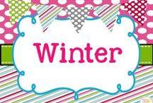 Winter Collaborative Board / Winter teaching ideas