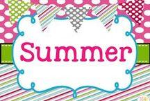 Summer Collaborative Board / Summer teaching ideas
