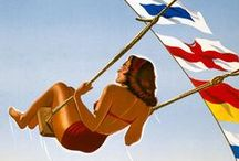 Italy in vintage poster and adv / Travelling in Italy in the 20th century. Poster and Adv about tourism. Molto pittoresco!
