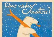 Italian Alps Vintage Poster - Ski Tourism in the Alp / Italy and the Alps in vintage posters and adv