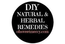 """DIY Natural & Herbal Remedies / Harness the healing power of beneficial herbs, flowers and plants (aka """"weeds""""). Make your own safe, natural products."""