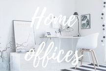 Home office / Inspirational home offices and office spaces. Inspiroivat kotitoimistot ja työpisteet.