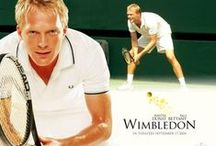 Wimbleton (2004) / Paul Bettany stars as Peter Colt, a 32 year-old British player ranked 119th in the world, playing in his very last Wimbledon. His retirement plans go completely unnoticed by the press as all of their attention is turned on the young up and coming players, such as the American woman making her Wimbledon debut, Lizzie Bradbury (Dunst). Peter's chances of winning are so low that even his own brother bets against him.