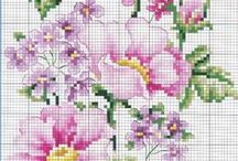 Ristpiste / Cross stitch / patterns