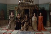 On Screen / Watts of Westminster's period fabrics, wallpaper and passementerie have dressed many a film set, including Atonement, Skyafll: Bond, Nanny McFee, Game of Thrones and most recently The White Queen.
