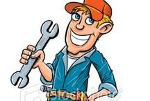 Cartoon handyman illustrations / Cartoon handyman illustrations created for various stock sites by Anton Brand