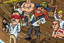 Cartoon pirate illustrations