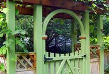 Garden Gates / Many gates can create a beautiful entrance into a yard or garden. Visit us at www.bordines.com