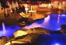 Rock swimming pools