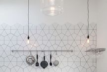 KITCHEN | Inspiration, Shelves, Tiles, Lighting