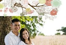 Spring Wedding Save the Date / Spring Weddings are in the air!  Send out a magnificent save the dates to your family and friends with the special touch of personal photos and your wedding colors.