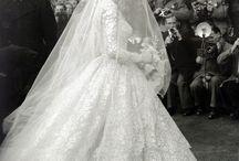 Wedding dress, bridal & flower