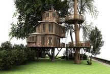 """Insane Treehouses / Brings a whole new meaning to """"Living the High Life"""". You won't believe these treehouses. / by Ginger Hall"""