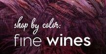 Shop by Color: Fine Wines / Colormusing's yarns, jewelry, knits, and artwork, all in tones of merlot, claret, burgundy, and bordeaux.