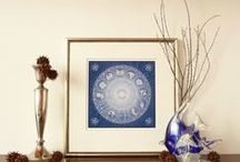 Birth chart art print / Personalized astrological chart art prints, birth chart art prints, horoscope art prints based on our original design. Wall art, wall decor. Unique gift for birthday, wedding, graduation, anniversaries or any kind of special events.