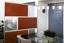 Living Spaces / Modern living environments utilizing LOFTwall screens, from lofts to mid century modern inspired homes.