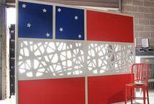 Holiday Walls / Walls created for the holiday season