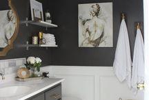 Bathroom / Bathroom decorating ideas, bathroom floor, bathroom wall color, bathroom cabinet
