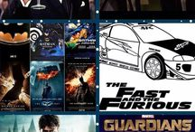 MOVIES / FAST AND FURIOUS  BATMAN THE GREAT GATSBY PULP FICTION  HARRY POTTER ⚪️ GUARDIANS OF THE GALEXY⚪️