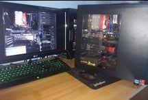 "Project : 1000 euro Gaming Build (no OC) / CASE : Bitfenix Comrade Window MB: ASRock Fatal1ty H97 Killer Intel H97 CPU: Intel Core i5 4690 4x 3.50GHz  CPU COOLER : Raijintek Aidos CPU cooler RAM: 8GB G.Skill RipjawsX DDR3-1600 DIMM CL7  PSU : 550Watt Thermaltake London Mod 80+ Gold FAN(s) :120mm Xilence Transparent red LED  HDD : 1000GB Seagate HDD 7.200rpm 64MB SSD : 120GB Samsung 840 Evo Series 2.5""  GPU: 4096MB Gainward GeForce GTX 970 Phantom"