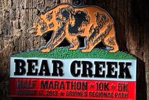 Bear Creek / Do you fear the Bear? Brazen Racing's half marathon / 10k and 5k races at Briones Regional Park. The half marathon is part of Brazen's Ultra Half Series. For more details or to sign up, check Brazenracing.com