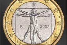 Монеты. Леонардо да Винчи / Монеты, банкноты, почтовые марки посвященные Леонардо да Винчи и его творчеству