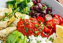 Mediterranean Diet Recipes / Healthy Mediterranean Recipes. Mediterranean recipes with vegetables, fruits, nuts, seeds, legumes, potatoes, whole grains, breads, herbs, spices, fish, seafood and extra virgin olive oil.