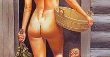 Баня/thermae / Издревле бани считались сакральным местом, где одновременно господствуют четыре стихии: вода, огонь, земля и воздух. Они очищают человека не только физически, но и духовно. Римские термы являлись по существу клубами, где люди разных культурных уровней находили себе занятие по склонностям, отдыхали и развлекались, вели светские беседы и жаркие философские споры.