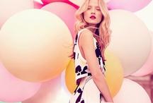City woman, summer, balloon